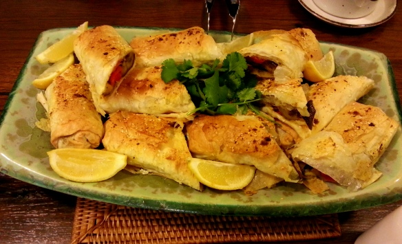 Middle Eastern filo rolls